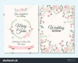 Wedding Invitations And Thank You Cards Pink Green Pastel Wedding Invitation Thank Stock Vector 604241333