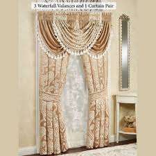Antique Satin Valances by Monarch Waterfall Valance Window Treatment