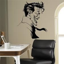 Superhero Home Decor Aliexpress Com Buy Joker Supervillain Wall Vinyl Decal Batman
