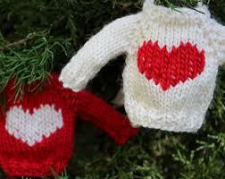 knitting pattern ornament mini sweater knit