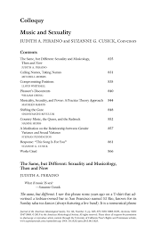 music and sexuality journal of the american musicological society