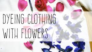 how to print clothes with flowers natural dyeing youtube