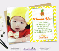 first birthday photo thank you cards realistic artificial