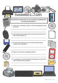 34 free esl punctuation worksheets for pre intermediate a2 level
