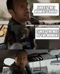The Heat Meme - the rock driving meme imgflip