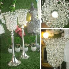 Wedding Decor Resale Rose Flower Crystal Wedding Candle Holder Romantic Standing
