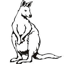 kangaroo outline free download clip art free clip art