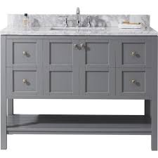 virtu usa winterfell 48 in w x 22 in d vanity in grey with