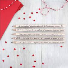 personalised quote gifts personalised persuasion by jane austen pencils by six0six design