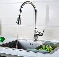 touch kitchen sink faucet touch on kitchen sink faucets wangel deck mounted brushed pull