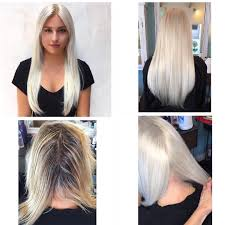 Before After Hair Extensions by Before And After Hair Transformation Bleach Blonde And Hair