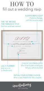 wedding invitations rsvp fill out a wedding rsvp invitations by