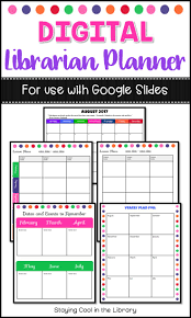 weekly lesson planner template best 20 library lesson plans ideas on pinterest library lessons paperless school library planner for use with google slides includes over 50 pages of schedules