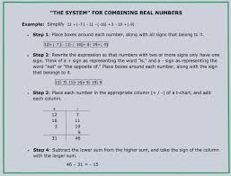foolproof system for adding subtracting integers math