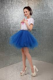 aliexpress com buy royal blue mini skirt party cocktail fluffy