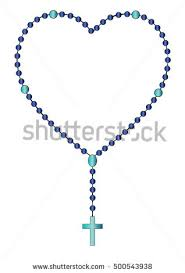 chaplet of the holy holy rosary chaplet catholic devotional stock vector