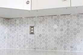 how to install a marble hexagon tile backsplash just a and