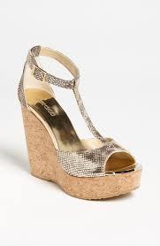 jimmy choo u0027pela u0027 cork wedge sandal for women www teexe com