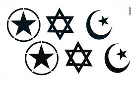 tattoo decal paper buy six men and five pointed star star moon simulation waterproof