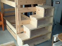 Wooden Bunk Bed With Stairs Sturdy Stair And Storage Link Is Worthless But Pic Is Self