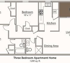 mesmerizing 3 bedroom 2 bath apartment floor plans pictures