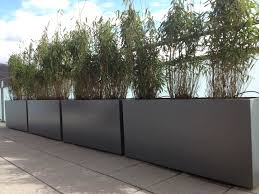 contemporary planter boxes with modern rectangle gray cement
