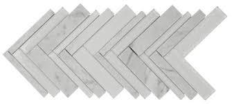 Stone Glass Tile Backsplash by Herringbone Stone Glass Tile Statuary Mineral Tiles
