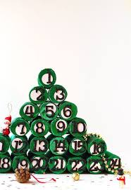 diy advent christmas tree using paper rolls hometalk