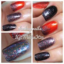 ehmkay nails china glaze loco motive halloween nail art