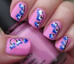 52 most stylish blue nail art ideas