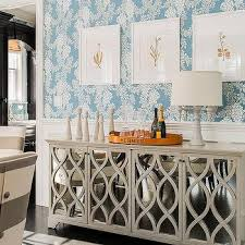 dining room alcove with built in buffet cabinet contemporary