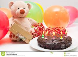 birthday cake and teddy bear royalty free stock images image