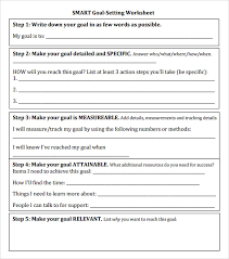 smart goal setting worksheet for students free worksheets library