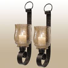 Wall Sconce Bronze Dashielle Hurricane Wall Sconce Pair With Candles