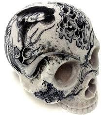 1 1 skull head artist ganji three tides tattoo friday the 13th