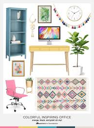 home furniture and decor remodelaholic chic and inspiring colorful home office decor