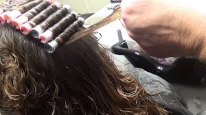 perm for grey hair a tight perm peach gray rollers 1 youtube