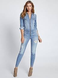 sleeve denim jumpsuit guess sleeve denim jumpsuit in indigo wash where to