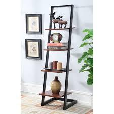 sauder trestle 5 shelf bookcase jamocha wood hayneedle