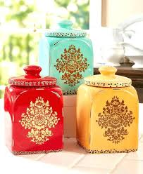 colorful kitchen canisters cnister tste imges grden colorful kitchen canisters ech ceramic