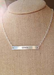 personalized silver bar necklace nameplate necklace silver bar necklace custom name 2014 custom
