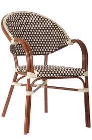 Wicker Bistro Chairs Wicker Bistro Chairs Frenchie De Bistro Aluminum Rattan Arm Chair