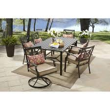 Better Homes And Gardens Dining Room Furniture Better Homes And Gardens Carter Hills 7 Piece Dining Set Tan