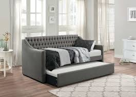homelegance tulney dark gray button tufted upholstered daybed with