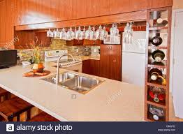a modern kitchen a modern kitchen in a modern home stock photo royalty free image