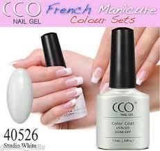 new cco studio white french manicure uv led soak off gel nail
