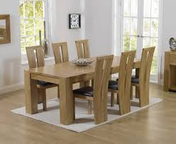Solid Oak Dining Room Set Solid Oak Dining Table And 6 Chairs Sensational Kitchen Dining