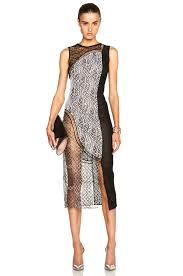 wire lace jonathan simkhai wire lace curve dress in black combo fwrd