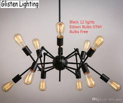 Vintage Wrought Iron Chandeliers Spider Chandelier Vintage Wrought Iron Pendant Lamp Loft American