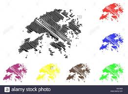 Hong Kong Flag Map Hong Kong Stock Vector Images Alamy